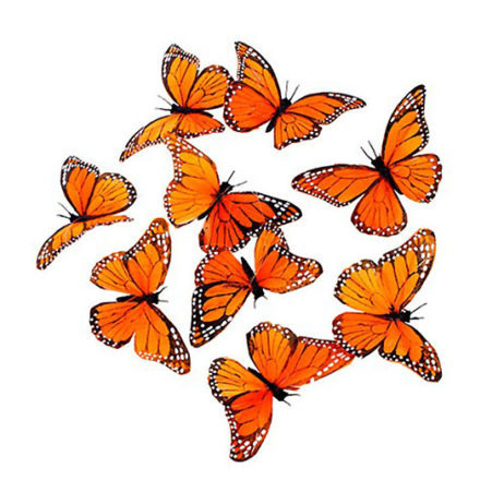 Monarch Feather Butterfly Garland