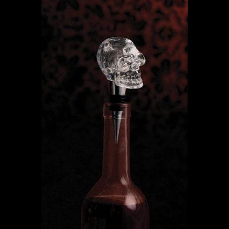 Glass Skull Bottle Stopper