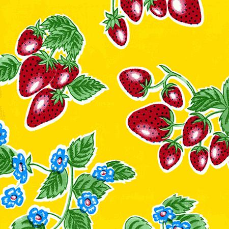 Strawberry Yellow Oil Cloth