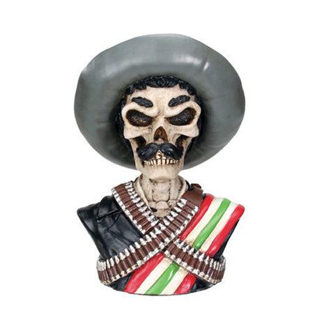 Emiliano Zapata Skeleton Bust
