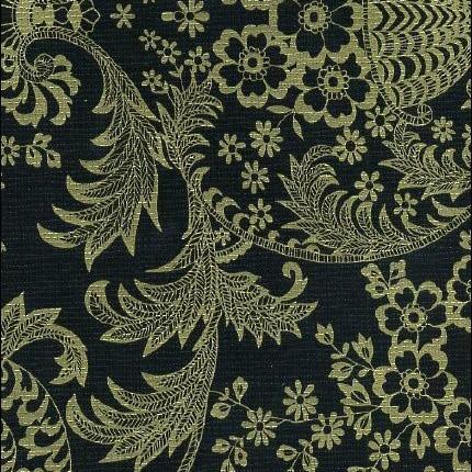 Paradise Lace Black/Gold Lace Print Oil Cloth