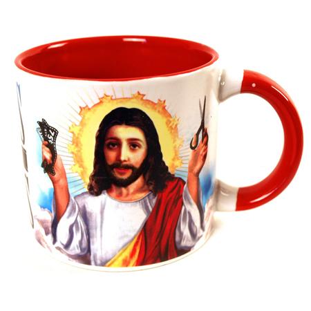 Jesus Shaves Disappearing Mug