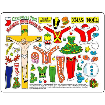 Xmas Jesus Dress Up Magnet Set