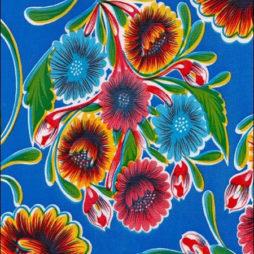 Bloom Light Blue Oil Cloth