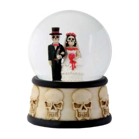 Day Of The Dead Wedding Couple Water Globe