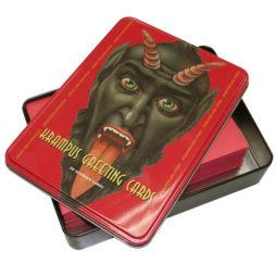 Krampus Greeting Cards In Tin Box