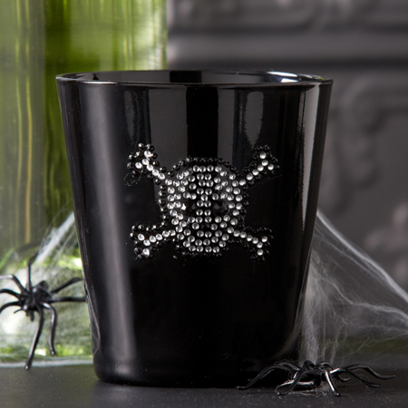 Skull & Crossbones Bling Double Old Fashioned Glass