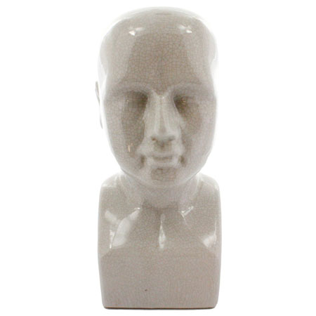 Ceramic Phrenology Head