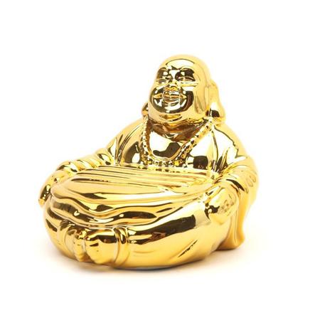 Golden Buddha Ceramic Soap Dish