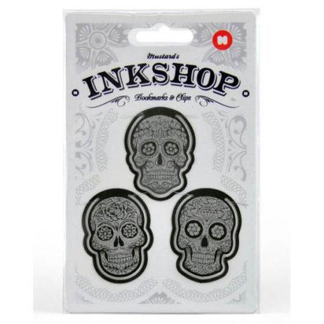 Inkshop Sugar Skull Bookmark Clips
