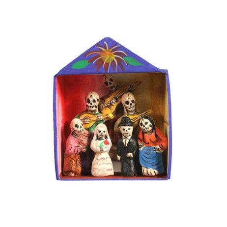 Miniature Skeleton Wedding Retablo
