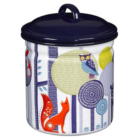 Folklore Tin Storage Pot