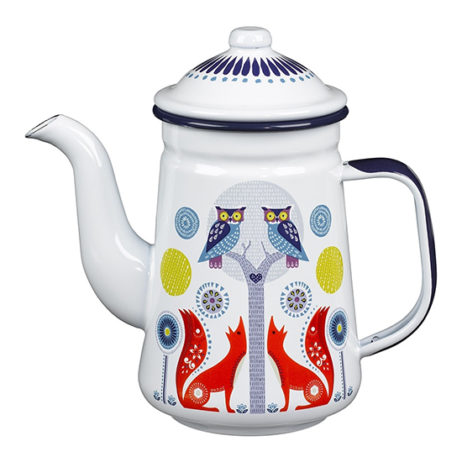 Folklore Tin Coffee Pot - Day