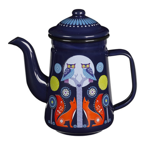 Folklore Tin Coffee Pot - Night