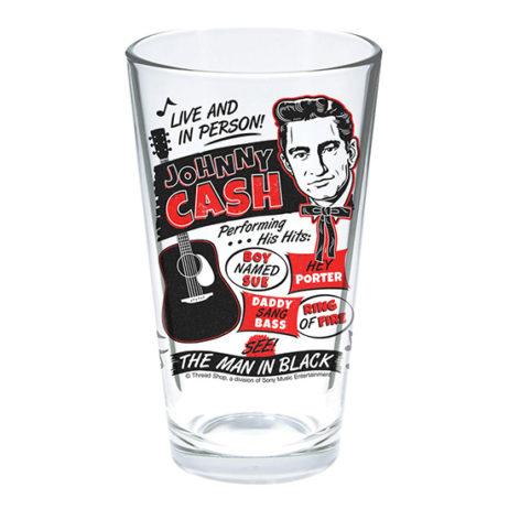 Johnny Cash Pint Glass
