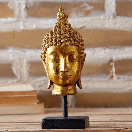 Buddha Head On Base