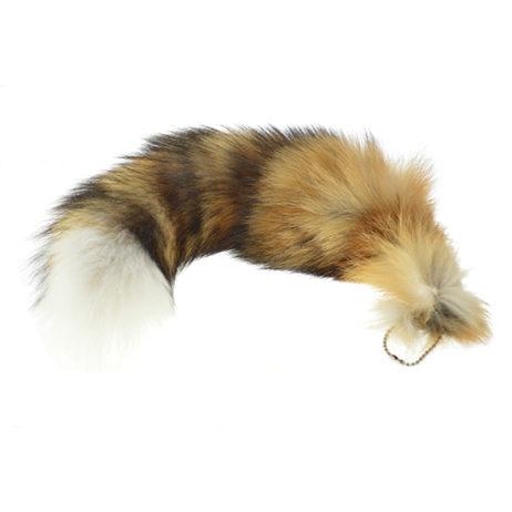 Red Fox Tail W/Keychain