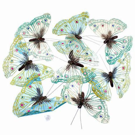 Mesh Organza Butterfly Garland