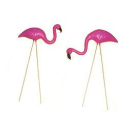 Mini Flamingo Yard Ornaments (Set Of 2)