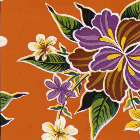 Hibiscus Oil Cloth