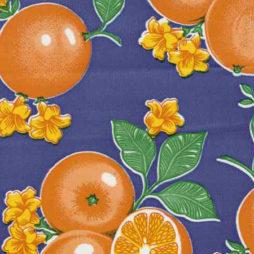 Oranges Blue Print Oil Cloth