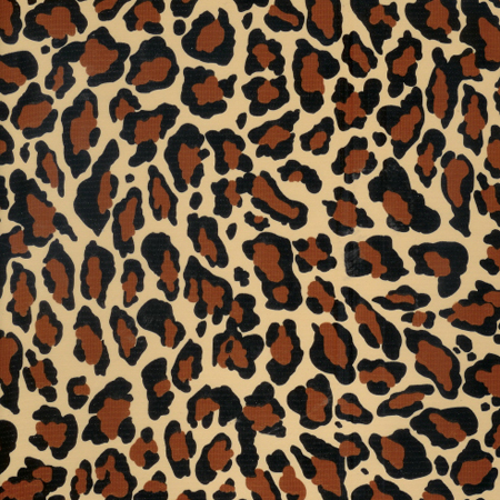 Jaguar Dark Brown Oil Cloth