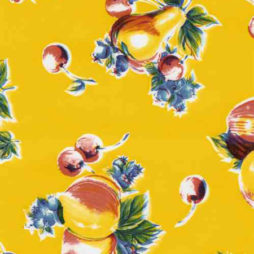 Pears & Apples Yellow Oil Cloth