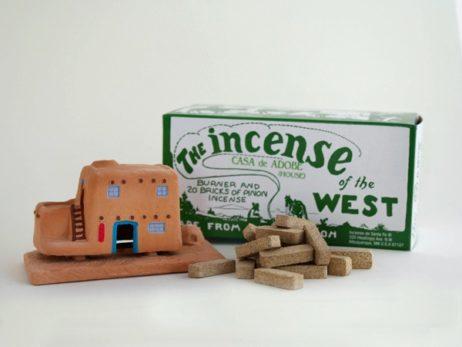 Casa De Adobe(House)Incense Burner With Pinon Natural Wood Incense