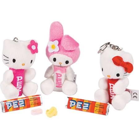 Hello Kitty Plush K/C Pez Disp